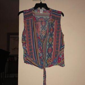 American Rag Boho Cropped Shirt